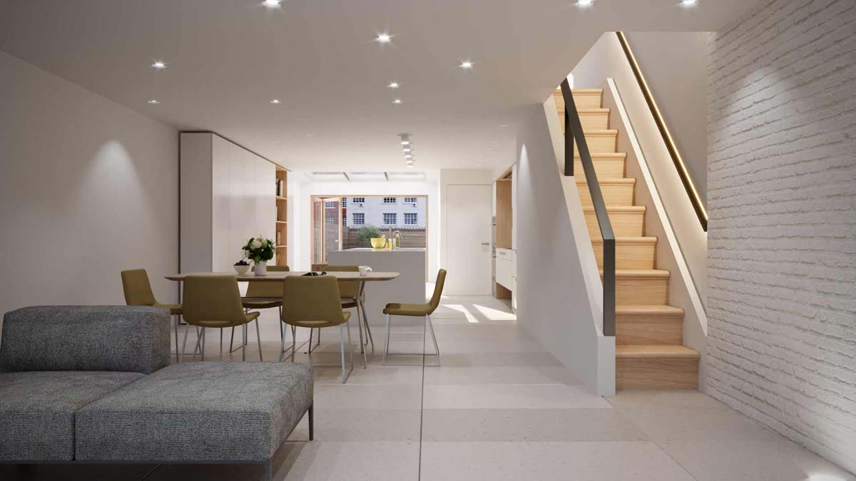 Tribeca penthouse renovation by Sguera Architecture PLLC, Leo Sguera architect Manhattan.