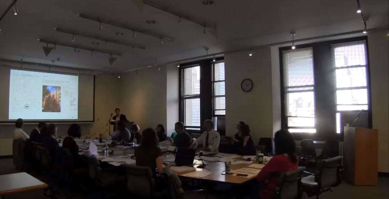 Presentation at the Landmark Preservation Commission & Facade Progress