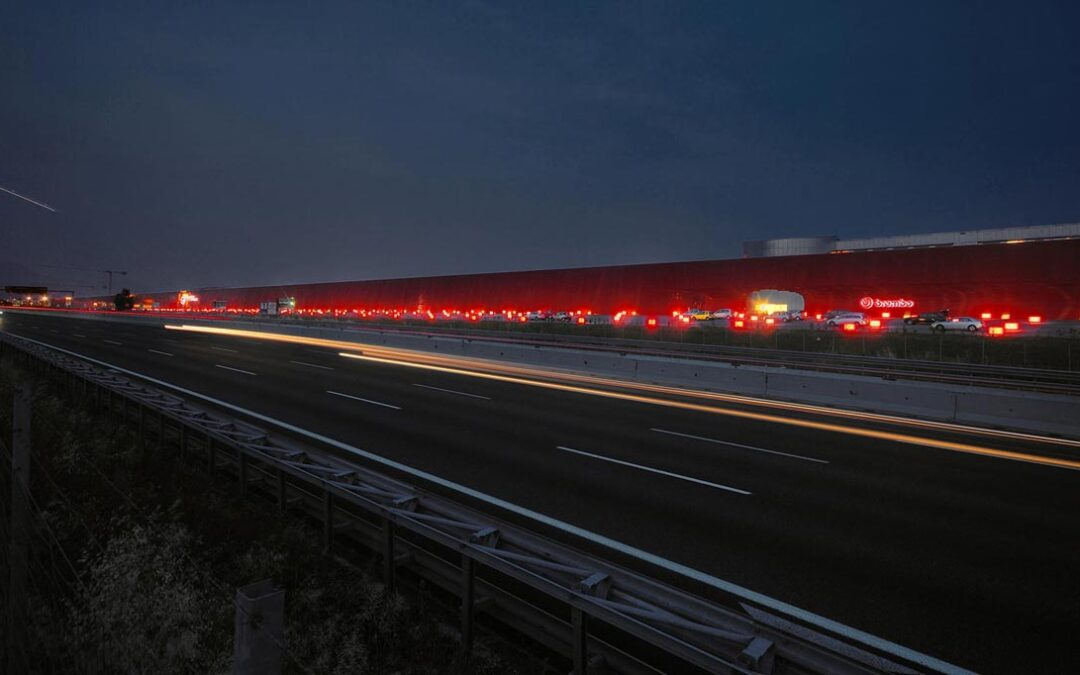 Red Kilometer by Jean Nouvel