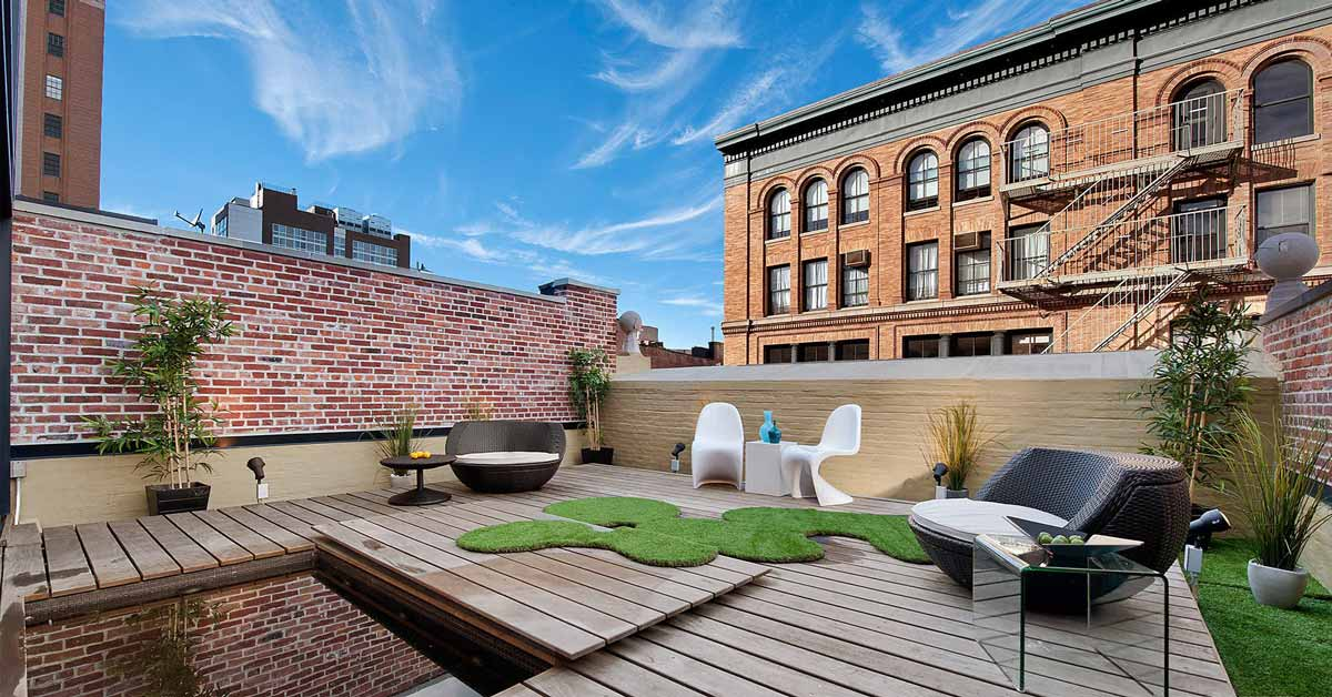 Tribeca terrace renovation by Sguera Architecture PLLC, Leo Sguera architect Manhattan.